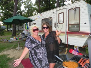Good friends and camping