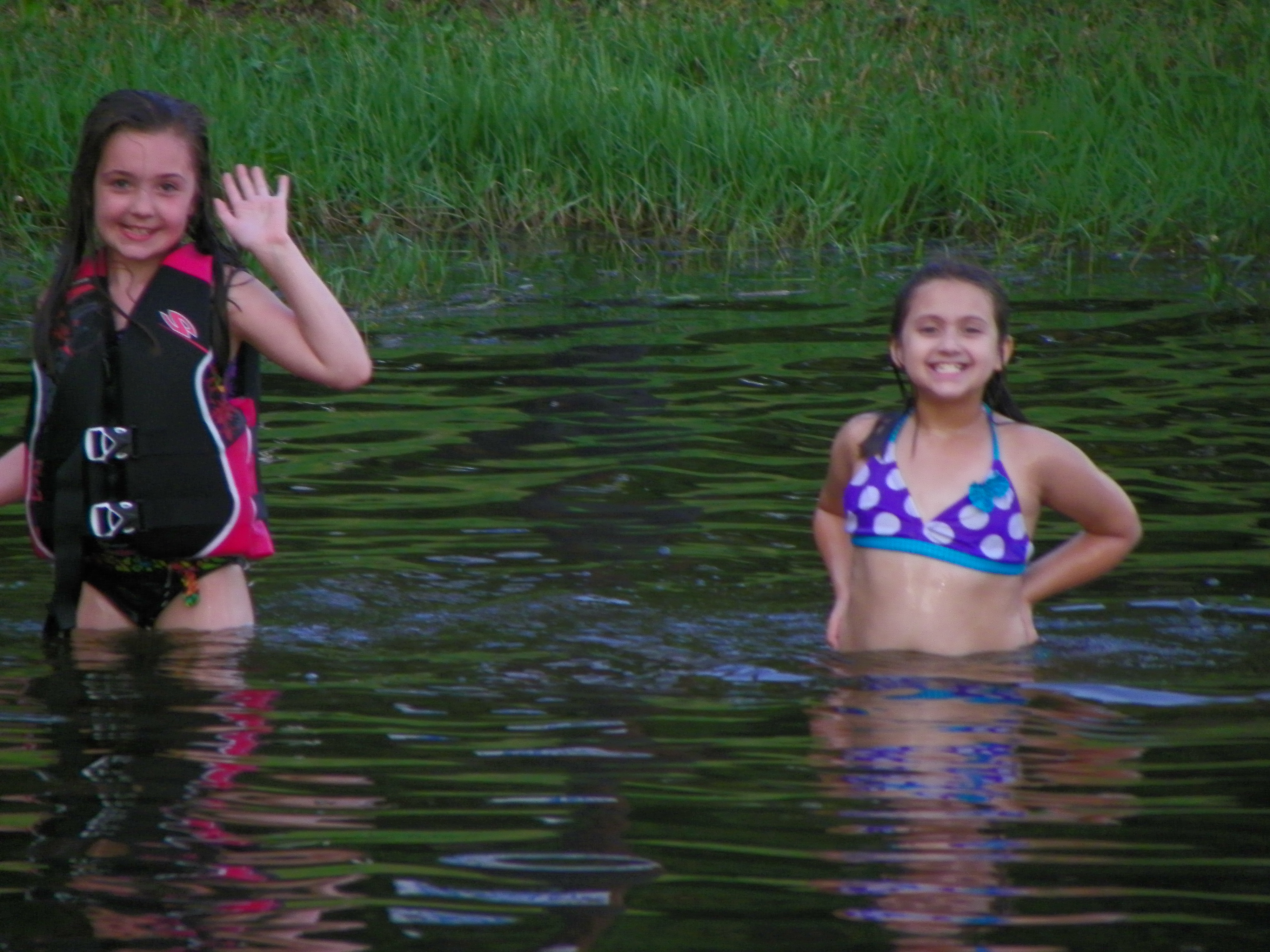 Swimming at the Boat Ramp